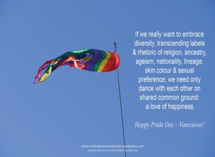 Happy Pride Day Vanouver 2016, michael sean symonds