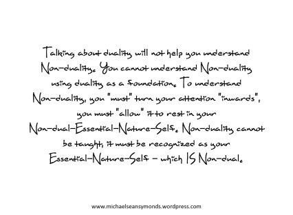 Understanding Non-duality. michael sean symonds