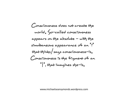 Consciousness Does Not Create The World