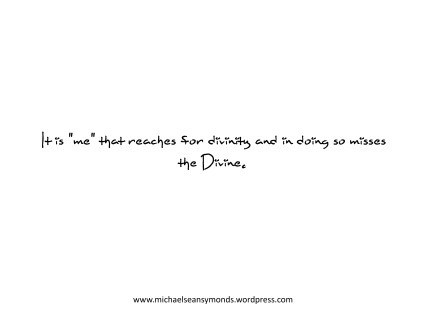 Missing The Divine. michael sean symonds