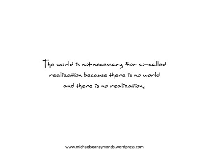 There Is No World. michael sean symonds