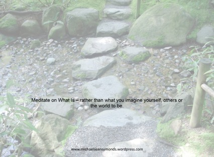 Meditate On What Is. michael sean symonds