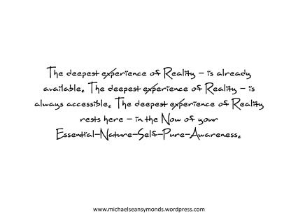 The Deepest Experience Of Reality2. michael sean symonds