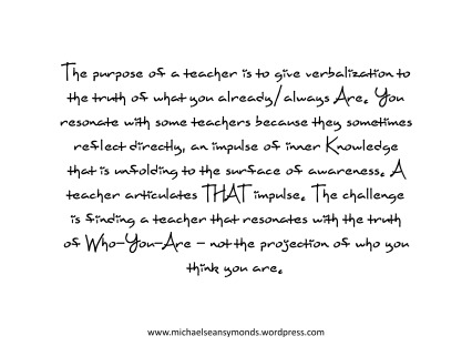 The Purpose Of A Teacher. michael sean symonds