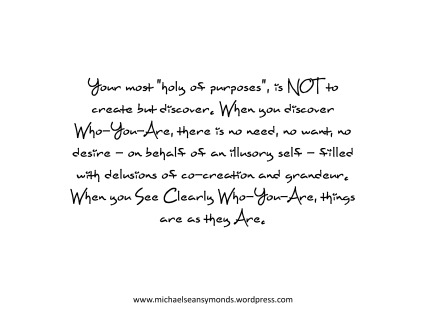 Your Most Holy Of Purposes. michael sean symonds