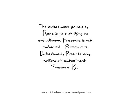 The Embodiment Principle. michael sean symonds
