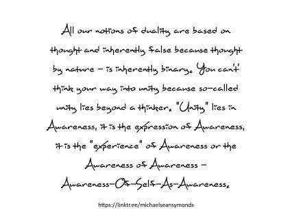 Awareness Of Self As Awareness. michael sean symonds